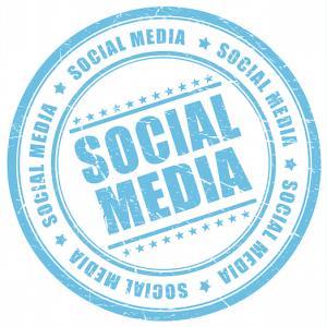de term Social media als stempel afgebeeld op de pagina over Social Media actief bijhouden