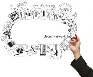 social network tekening - afbeelding bij de blog Wat doet een Social Media Manager?
