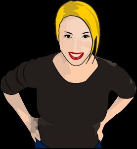 tekening van blonde vrouw - afbeelding bij de blog Beginnen met bloggen?
