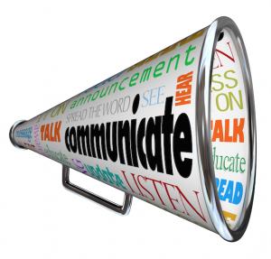 afbeelding van roeptoeter bij blog over van communicatie naar conversatie?