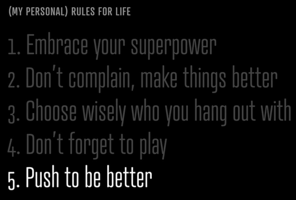 5 leefregels - afbeelding bij Jouw allerbeste eigenschap en businessvoordeel blog