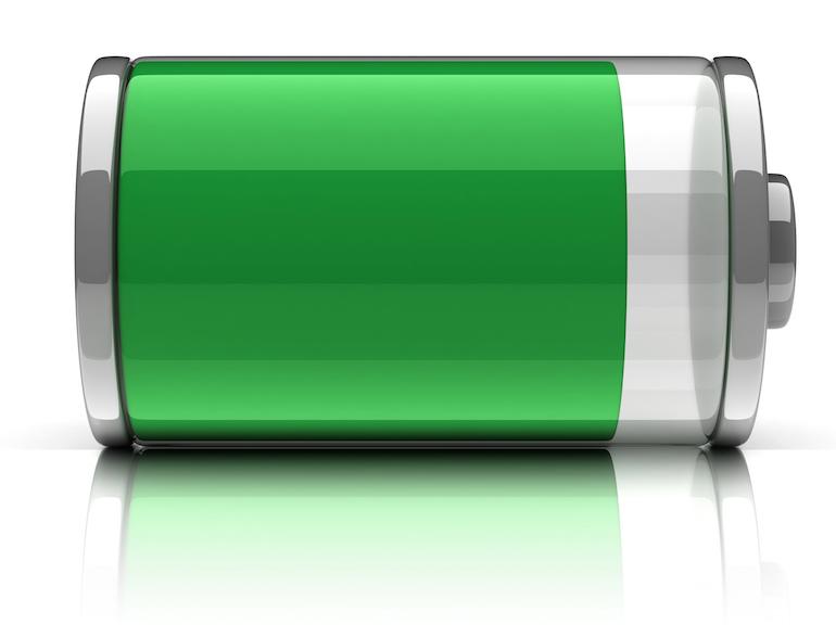 batterij die bijna vol en groen is