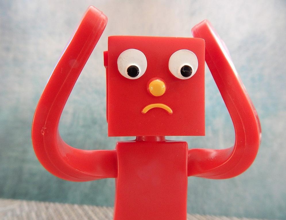wanhopig rood poppetje - afbeelding bij introverte zzp'er blog