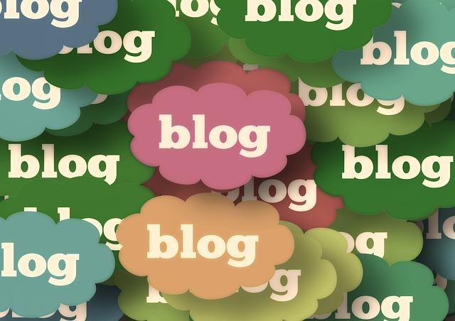 wolkjes met het woord blog erin - afbeelding bij blog over vaker bloggen