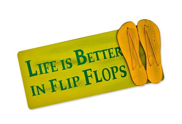 illustratie van matje met slippers erop - afbeelding bij te mooi weer om te ondernemen blog