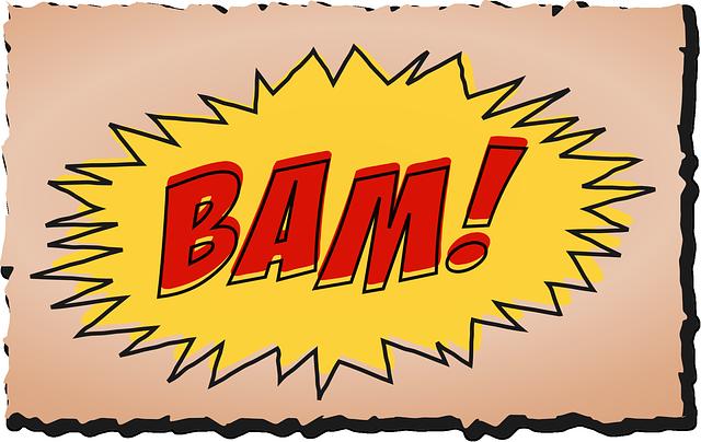 tekening van het woord BAM bij blog Wanneer schrijf je de beste blogs?