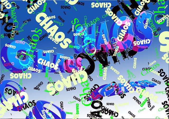afbeelding met het woord chaos kriskras door elkaar
