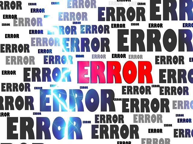 illustratie met het woord error bij de blog Durf te falen!