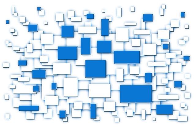 blauwe en blanco blokjes - illustratie bij de blog Wil de ECHTE ondernemer opstaan?