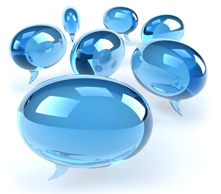 lichtblauwe praatwolkjes - afbeelding bij de blog Iedereen kan verkopen