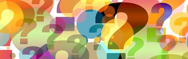 illustratie met kleurrijke vraagtekens