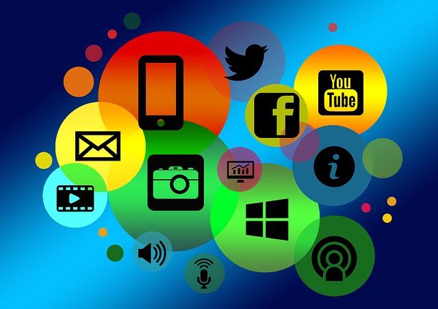 illustratie van digitale middelen - afbeelding bij blog Online opvallen? Wees jezelf!