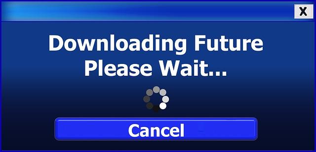 plaatje met de woorden downloading future please wait