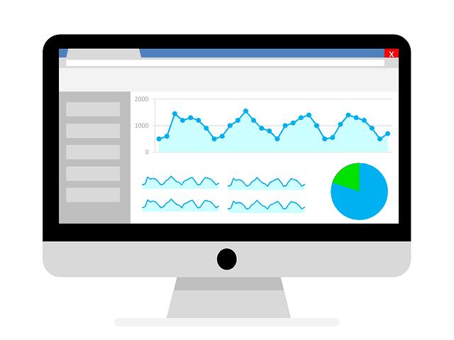 beeldscherm met statistieken op hulp met Google Analytics pagina