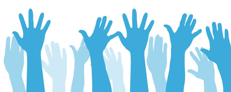 Handen omhoog illustratie bij blog over 5 randvoorwaarden voor succes