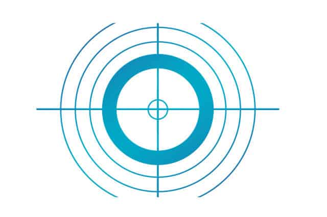 doel in het vizier - illustratie bij blog over website doelen