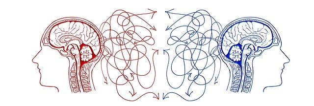 illustratie van twee breinen bij blog over onbewust beïnvloeden