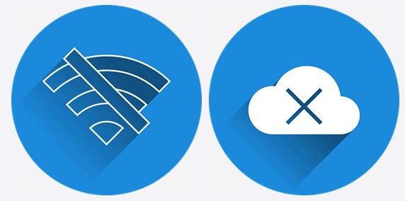 offline pictogrammen bij blog over nieuwe concurrent die online heet
