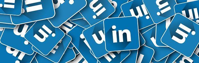 LinkedIn favicon in blog over LinkedIn adviezen